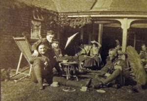 England 1917 - Miss Christie's home, I am right front.  Laurie